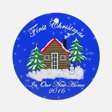 First Christmas New Home (round) Round Ornament