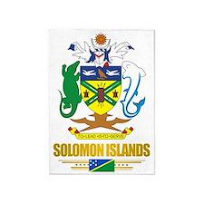 Solomon Islands COA (Flag 10)2 5'x7'Area Rug