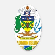 Solomon Islands COA (Flag 10)2 Oval Car Magnet