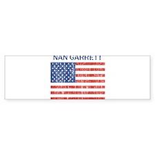 NAN GARRETT (Vintage flag) Bumper Bumper Sticker