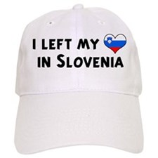 Left my heart in Slovenia Baseball Cap