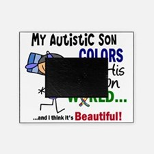 D Son Colors His Own World Autism Picture Frame
