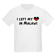 Left my heart in Malawi Kids T-Shirt
