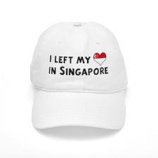Left my heart in Singapore Baseball Cap