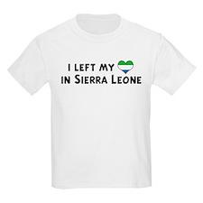 Left my heart in Sierra Leone Kids T-Shirt