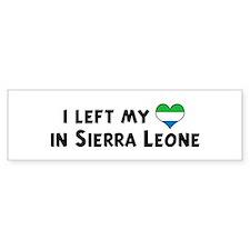 Left my heart in Sierra Leone Bumper Bumper Sticker