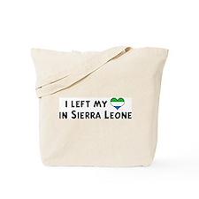 Left my heart in Sierra Leone Tote Bag