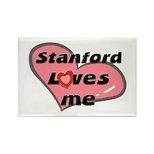 stanford loves me Rectangle Magnet