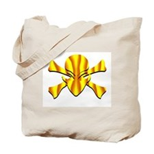 Alien Jolly Roger in Yellow Tote Bag
