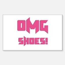 OMG Shoes 1.0 Rectangle Decal