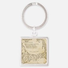 Cape Cod Deyo-map parch Square Keychain
