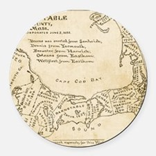 Cape Cod Deyo-map parch Round Car Magnet