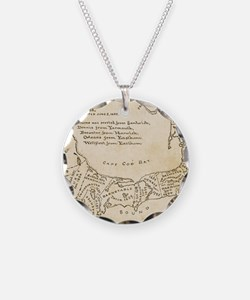Cape Cod Deyo-map parch Necklace