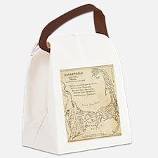 Cape Cod Deyo-map parch Canvas Lunch Bag