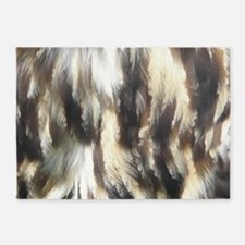 owl F poster 5'x7'Area Rug