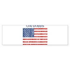 LOU DOBBS (Vintage flag) Bumper Bumper Sticker