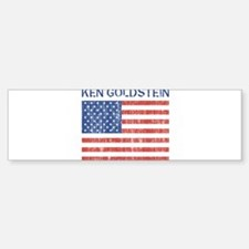 KEN GOLDSTEIN (Vintage flag) Bumper Bumper Bumper Sticker