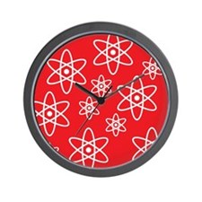Atomic Orbits (Red) Wall Clock