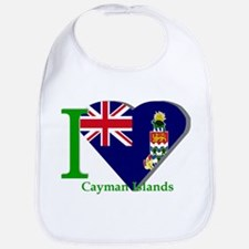 I love Cayman Islands Bib