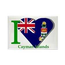 I love Cayman Islands Rectangle Magnet