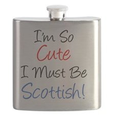 So Cute Must Be Scottish Flask