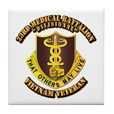 Army - 23rd Medical Battalion Tile Coaster