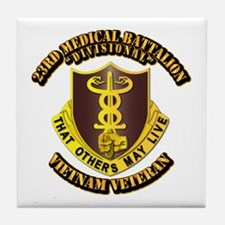 Army - 23rd Medical Battalion Tile Coaster