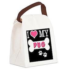dogboneILOVEMY(keychain) Canvas Lunch Bag