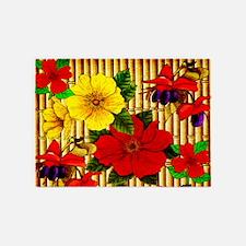 Bamboo Flowers 5'x7'Area Rug