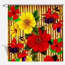 Bamboo Flowers Shower Curtain