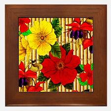 Bamboo Flowers Framed Tile