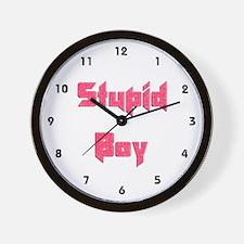 Stupid Boy Wall Clock