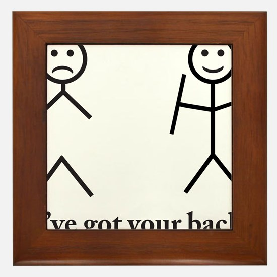 i got your back cu ochi Framed Tile