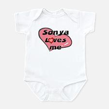 sonya loves me  Infant Bodysuit