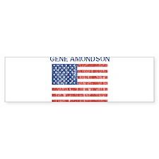 GENE AMONDSON (Vintage flag) Bumper Bumper Sticker