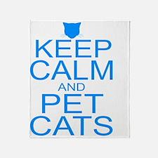 keepCALM-petcats-Bl Throw Blanket