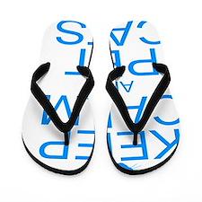keepCALM-petcats-Bl Flip Flops
