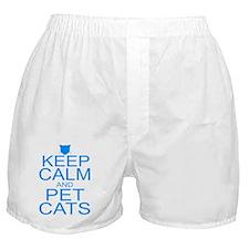 keepCALM-petcats-Bl Boxer Shorts