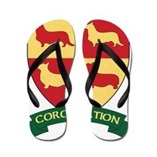 Corgi Nation Crest Final Flip Flops