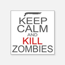"keepCALM-zombies-gr Square Sticker 3"" x 3"""
