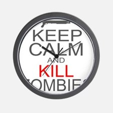 keepCALM-zombies-gr Wall Clock