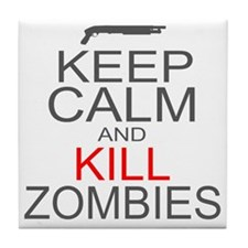 keepCALM-zombies-gr Tile Coaster