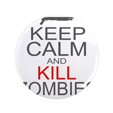 "keepCALM-zombies-gr 3.5"" Button"
