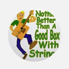 BoxWithStrings Round Ornament