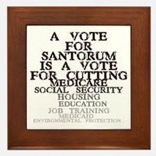santorum Framed Tile