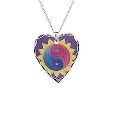 Violet Fire Necklace Heart Charm
