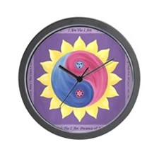 Violet Fire Wall Clock