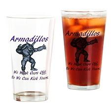 armadillo1 Drinking Glass