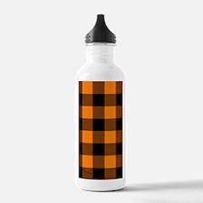 nooksleeveorangechecke Water Bottle