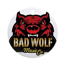 Bad-Wolf-Logo-Large_Transparent Round Ornament